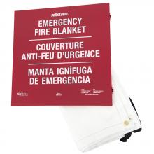 Sellstrom S97457 - Emergency Fire Blanket - in Metal Storage Cabinet